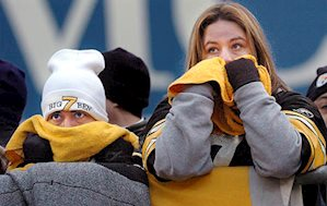Sad Pittsburgh Steelers fans