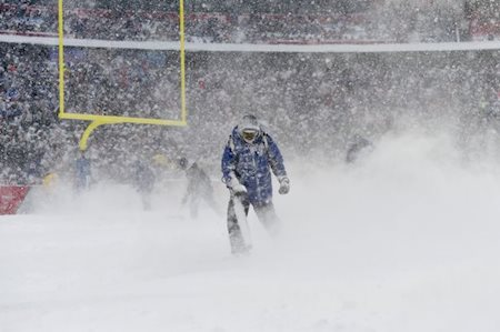 Snow games make NFL betting difficult