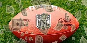NFL football and betting money